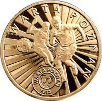 reverse of 2 Złote - Warta Poznań (2013) coin with Y# 864 from Poland. Inscription: WARTA POZNAŃ