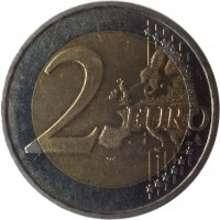 reverse of 2 Euro - 2'nd Map (2007 - 2015) coin with KM# 1414 from France. Inscription: 2 EURO LL