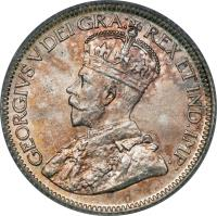 obverse of 10 Cents - George V (1912 - 1919) coin with KM# 23 from Canada. Inscription: GEORGIVS V DEI GRA: REX ET IND:IMP: