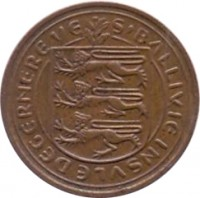 obverse of 1 Penny - Elizabeth II (1977 - 1981) coin with KM# 27 from Guernsey. Inscription: S'BALLIVIE INSVLE DEGERNERE VE