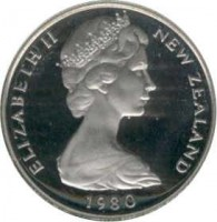 obverse of 10 Cents - Elizabeth II - 2'nd Portrait (1970 - 1985) coin with KM# 41 from New Zealand. Inscription: ELIZABETH II NEW ZEALAND 1971