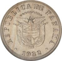 obverse of 5 Centésimos (1929 - 1932) coin with KM# 9 from Panama. Inscription: 1929