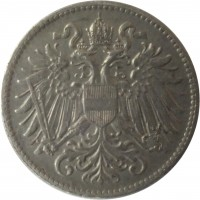 obverse of 10 Heller - Karl I - Shield with Austrian flag (1916) coin with KM# 2825 from Austria.