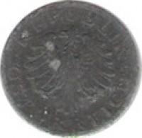 obverse of 1 Groschen (1947) coin with KM# 2873 from Austria. Inscription: · REPUBLIK · ÖSTERREICH