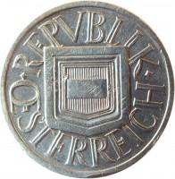 obverse of 1/2 Schilling (1924 - 1926) coin with KM# 2839 from Austria. Inscription: · REPVBLIK · ÖSTERREICH
