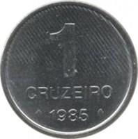 reverse of 1 Cruzeiro - FAO (1985) coin with KM# 598 from Brazil. Inscription: 1 CRUZEIRO 1985