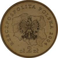 obverse of 2 Złote - Lodzkie (2004) coin with Y# 487 from Poland. Inscription: RZECZPOSPOLITA POLSKA 2004 zł 2 zł