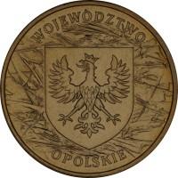 reverse of 2 Złote - Opolskie (2004) coin with Y# 607 from Poland. Inscription: WOJEWODZTWO OPOLSKIE