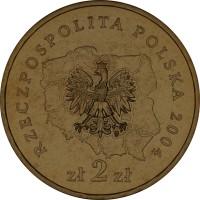 obverse of 2 Złote - Pomorskie (2004) coin with Y# 492 from Poland. Inscription: RZECZPOSPOLITA POLSKA 2004 zł 2 zł