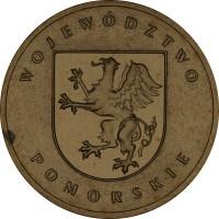 reverse of 2 Złote - Pomorskie (2004) coin with Y# 492 from Poland. Inscription: WOJEWÓDZTWO POMORSKIE