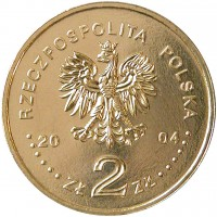 obverse of 2 Złote - Warsaw Uprising (2004) coin with Y# 496 from Poland. Inscription: RZECZPOSPOLITA POLSKA 2004 ZŁ 2 ZŁ