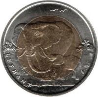 obverse of 1 Lira - Elephant (2009) coin with KM# 1263 from Turkey. Inscription: ELEPHANT