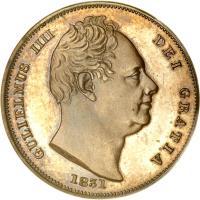 obverse of 1 Farthing - William IV (1831 - 1837) coin with KM# 705 from United Kingdom. Inscription: GULIELMUS IIII DEI GRATIA 1831