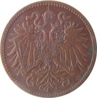 obverse of 2 Heller - Franz Joseph I (1892 - 1915) coin with KM# 2801 from Austria.