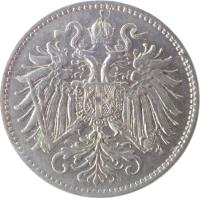 obverse of 10 Heller - Franz Joseph I (1892 - 1911) coin with KM# 2802 from Austria.