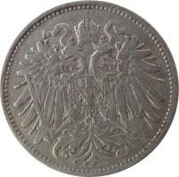 obverse of 20 Heller - Franz Joseph I (1892 - 1914) coin with KM# 2803 from Austria.