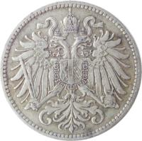 obverse of 10 Heller - Franz Joseph I - Shield with lion and stars (1915 - 1916) coin with KM# 2822 from Austria.