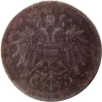 obverse of 20 Heller - Karl I (1916 - 1918) coin with KM# 2826 from Austria.