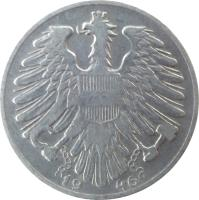 obverse of 1 Schilling (1946 - 1957) coin with KM# 2871 from Austria. Inscription: 19 46
