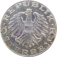 obverse of 10 Schilling (1974 - 2001) coin with KM# 2918 from Austria. Inscription: · REPUBLIK ÖSTERREICH ·