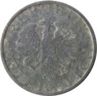 obverse of 10 Groschen (1947 - 1949) coin with KM# 2874 from Austria. Inscription: · REPUBLIK · ÖSTERREICH