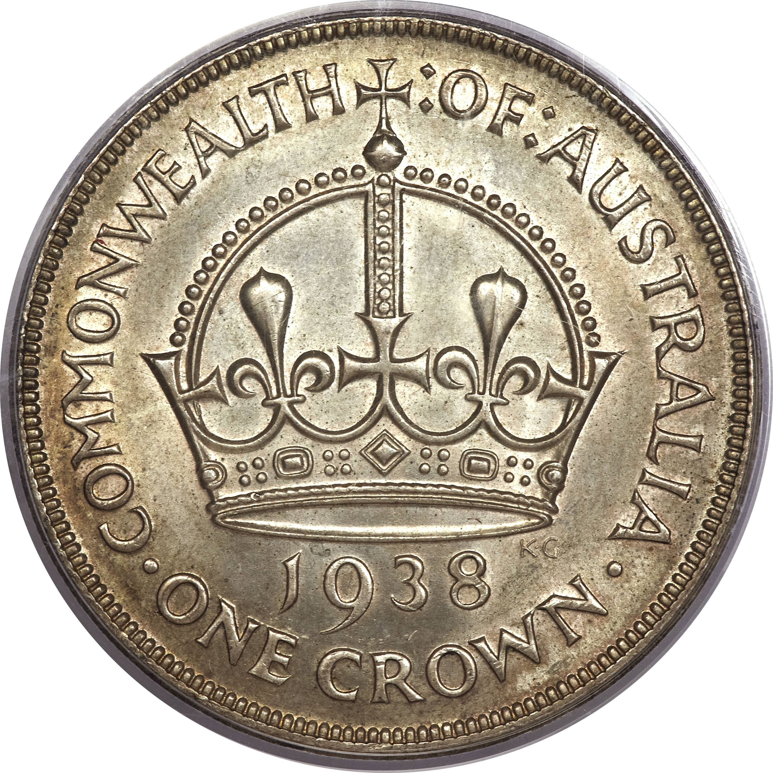 1 Crown George Vi Coronation 1937 1938 Australia Km