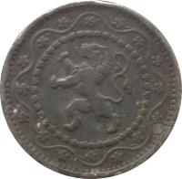 obverse of 10 Centimes (1915 - 1917) coin with KM# 81 from Belgium.