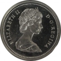 obverse of 1 Dollar - Elizabeth II - Calgary (1975) coin with KM# 97 from Canada. Inscription: ELIZABETH II D · G · REGINA