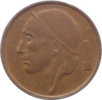 obverse of 50 Centimes - Baudouin I - Dutch text (1956 - 2001) coin with KM# 149 from Belgium. Inscription: RAU