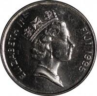 obverse of 5 Cents - Elizabeth II - FAO (1995) coin with KM# 77 from Fiji. Inscription: ELIZABETH II FIJI 1995