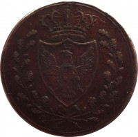 obverse of 1 Centesimo - Carlo Felice (1826) coin with KM# 125 from Italian States.