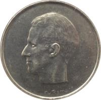 obverse of 10 Francs - Baudouin I - Dutch text (1969 - 1979) coin with KM# 156 from Belgium. Inscription: Elstrom