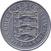 obverse of 10 New Pence - Elizabeth II (1968 - 1971) coin with KM# 24 from Guernsey. Inscription: S'BALLIVIE INSVLE DE GERNEREVE