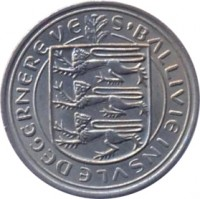 obverse of 5 New Pence - Elizabeth II (1968 - 1971) coin with KM# 23 from Guernsey. Inscription: S'BALLIVIE INSVLE DEGERNEREVE