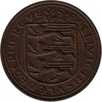 obverse of 4 Doubles - Elizabeth II (1956 - 1966) coin with KM# 15 from Guernsey. Inscription: S'BALLIVIE INSVLE DEGERNEREVE