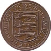 obverse of 2 Pence - Elizabeth II (1977 - 1981) coin with KM# 28 from Guernsey. Inscription: S'BALLIVIE INSVLE DE GERNERE VE