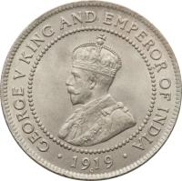 obverse of 1 Penny - George V (1914 - 1928) coin with KM# 26 from Jamaica. Inscription: GEORGE V KING AND EMPEROR OF INDIA · 1928 ·