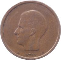 obverse of 20 Francs - Baudouin I - Dutch text (1980 - 1993) coin with KM# 160 from Belgium. Inscription: ELSTRØM