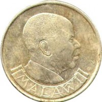 obverse of 1 Kwacha (1992) coin with KM# 20 from Malawi. Inscription: MALAWI