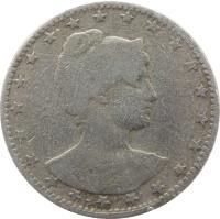 reverse of 200 Réis (1901) coin with KM# 504 from Brazil. Inscription: LIBERT PT