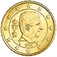 obverse of 10 Euro Cent - Philippe (2014 - 2015) coin with KM# 334 from Belgium. Inscription: FP BE 2014