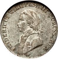 obverse of 4 Groschen - Friedrich Wilhelm III (1797 - 1809) coin with KM# 370 from German States. Inscription: FRIDERICUS WILHELM.III BORUSS.REX