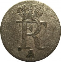 obverse of 1/48 Thaler - Friedrich II (1771 - 1781) coin with KM# 327 from German States. Inscription: FR A