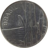 obverse of 1 Cruzeiro (1979 - 1984) coin with KM# 590 from Brazil. Inscription: BRASIL
