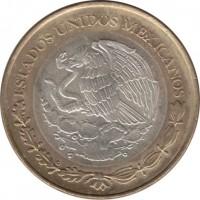 obverse of 50 Nuevo Pesos - Child Heroes (1993 - 1995) coin with KM# 571 from Mexico. Inscription: ESTADOS UNIDOS MEXICANOS