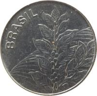 obverse of 5 Cruzeiros (1980 - 1984) coin with KM# 591 from Brazil. Inscription: BRASIL