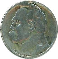 reverse of 2 Złote (1934 - 1936) coin with Y# 27 from Poland.