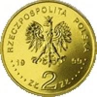 obverse of 2 Złote - Wladyslaw IV Waza (1999) coin with Y# 368 from Poland. Inscription: RZECZPOSPOLITA POLSKA 1999 ZŁ 2 ZŁ