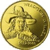 reverse of 2 Złote - Wladyslaw IV Waza (1999) coin with Y# 368 from Poland. Inscription: WŁADYSŁAW IV WAZA 1632-1648