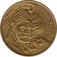 reverse of 2 Złote - Stefan Batory (1997) coin with Y# 325 from Poland. Inscription: STEFAN BATORY 1576 - 1586